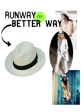 Runway to Better Way Her Panama Hat