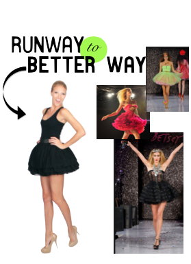 Runway to Better Way: Carrie Bradshaw Tutu
